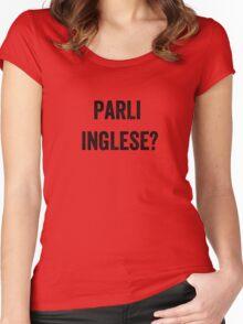 Do you speak English? (Italian) Women's Fitted Scoop T-Shirt