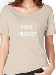 Do you speak English? (Italian) White Women's Relaxed Fit T-Shirt