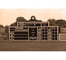 Vintage Baseball Scoreboard Photographic Print