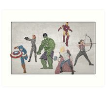 The Avengers Typography - Movie Quotes Art Print