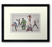 The Avengers Typography - Movie Quotes Framed Print