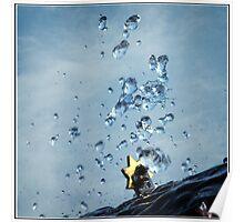 Water Drop Sculpture - frozen in time Poster