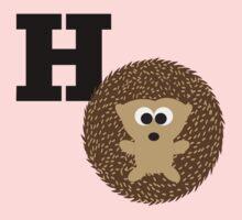 H is for Hedgehog Baby Tee