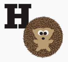 H is for Hedgehog One Piece - Short Sleeve