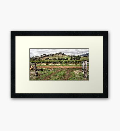 View from the Homestead Framed Print