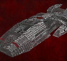 Battlestar Galactica Typography Art by SkahfeeStudios