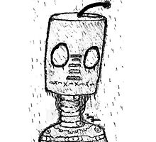 Rainy Day Robot (Canvas Version) Photographic Print