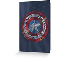 Captain America Typography Art Greeting Card