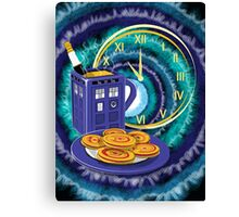 Doctor Who Tea Time! Canvas Print