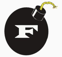 F Bomb Logo - Funny Spoof - Shirt, Poster, Stickers by sturgils