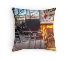 Watching the world go by Throw Pillow