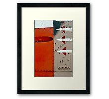 Orange Panel Framed Print