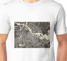 amsterdam map ink lines Unisex T-Shirt