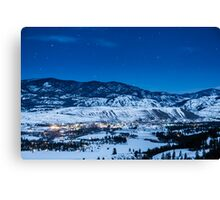Night Sky Over Winthrop, Washington and the Methow Valley Canvas Print