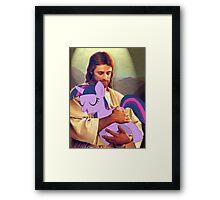 Brony Jesus Framed Print