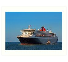 Queen Mary 2 - Fremantle Western Australia  Art Print