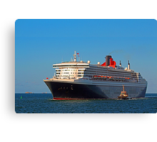 Queen Mary 2 - Fremantle Western Australia  Canvas Print
