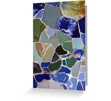 Gaudi Mosaics Greeting Card