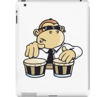 The cool monkey plays the bongos iPad Case/Skin