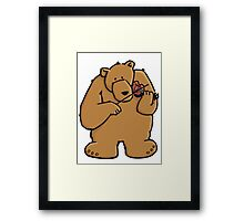 The bear plays violin Framed Print