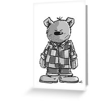 The Bear has the Grunge Greeting Card