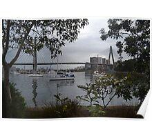 Anzac Bridge, Blackwattle Bay, Sydney II Poster