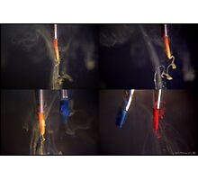 Paint brushes in water Photographic Print