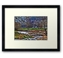 Haus am Fluss Framed Print