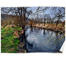 Winter am Fluss 1 Poster