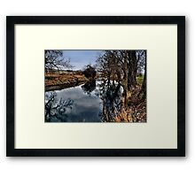 Winter am Fluss 2 Framed Print