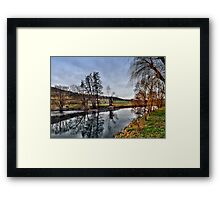 Winter am Fluss 4 Framed Print