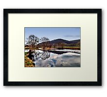 Winter am Fluss 5 Framed Print