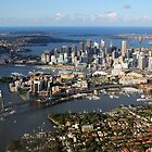 Aerial view of Sydney Harbour, Australia by Deb22