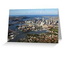 Aerial view of Sydney Harbour, Australia Greeting Card