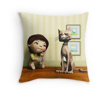 Going to Share Throw Pillow