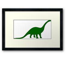 Brontosaurus / Apatosaurus Dinosaur Framed Print
