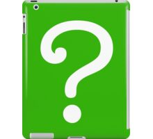 Question Mark - style 3 iPad Case/Skin