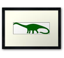 Diplodocus Dinosaur Framed Print
