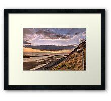 Llandudno Sunset and Great Orme Goats Framed Print