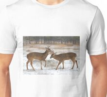 Battle of the Big Bucks - White-tailed deer Unisex T-Shirt
