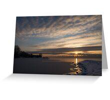 New Day on Ice - Sunrise on Lake Ontario  Greeting Card