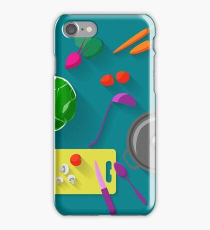Vegetarian cooking iPhone Case/Skin