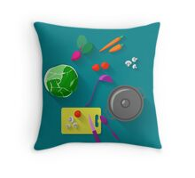 Vegetarian cooking Throw Pillow