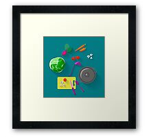 Vegetarian cooking Framed Print