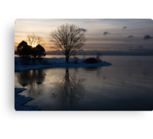 Gray Reflections and Ice Patches Canvas Print
