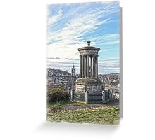 Edinburgh Skyline in Portrait Colour Greeting Card