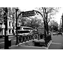 Paris Metro Station Photographic Print