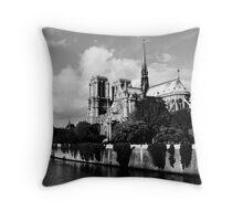 Paris Notre Dame Throw Pillow