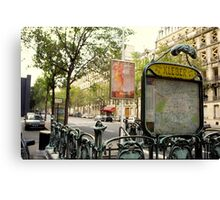 Paris, Metro Station Kleber Canvas Print
