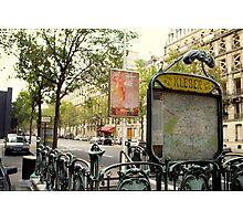 Paris, Metro Station Kleber Photographic Print